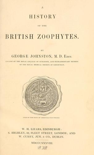 A history of the British zoophytes