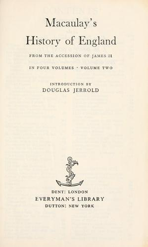 Download The history of England from the accession of James II.