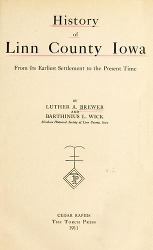 History of Linn County Iowa