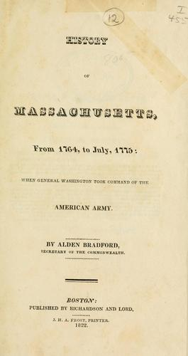 History of Massachusetts