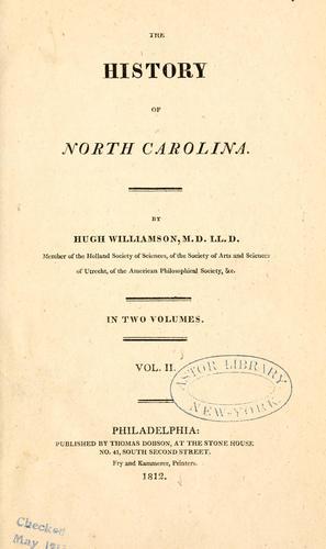 The history of North Carolina