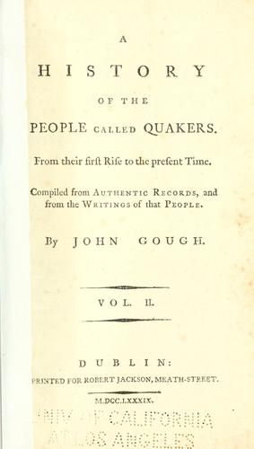 Download A history of the people called Quakers.