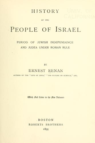 Download History of the people of Israel …