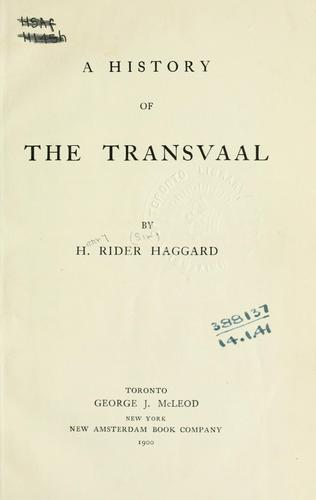 A history of the Transvaal.