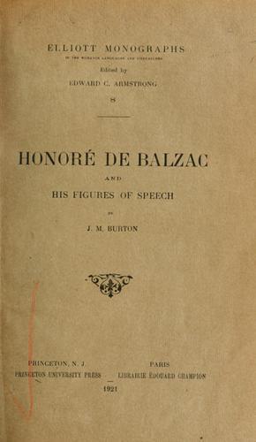 Download Honoré de Balzac and his figures of speech