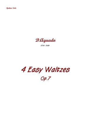 4 valses faciles, op.7 : aguado, dionisio : free download, borrow, and  streaming : internet archive  internet archive