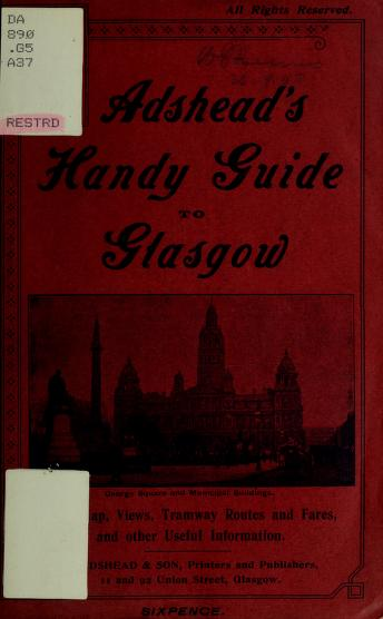 Cover of: Adshead's handy guide to Glasgow by