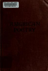Cover of: An anthology of American poetry | Alfred Kreymborg