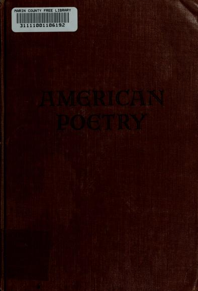 An anthology of American poetry by Alfred Kreymborg