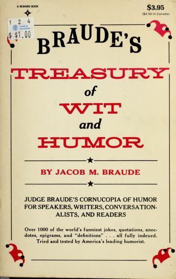 Braudes Treasury Wit & Humour by Braude