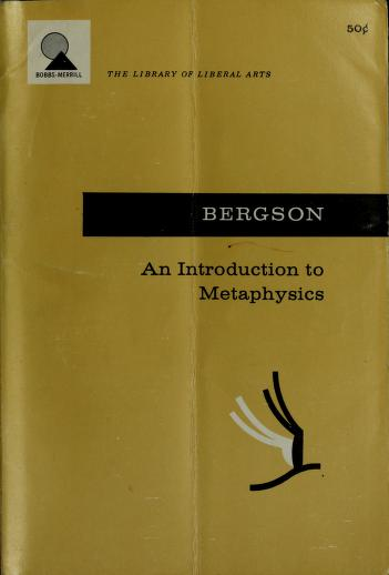 Cover of: An introduction to metaphysics | Henri Bergson
