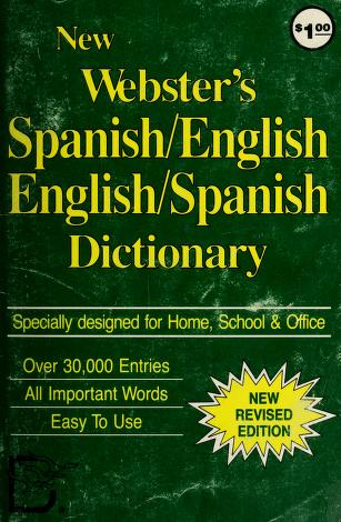 Cover of: New Webster's English-Spanish Dictionary | Edward G. Finnegan