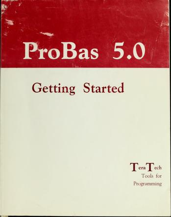 Cover of: ProBas 5.0 |