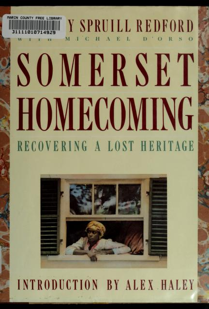 Somerset Homecoming by Dorothy Spruill Redford