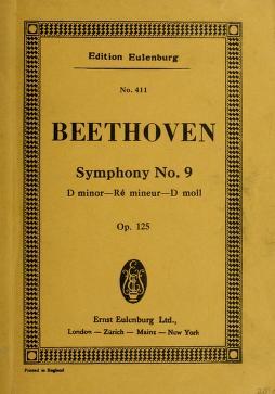 Cover of: Symphony no. 9, D minor, op. 125 | Ludwig van Beethoven