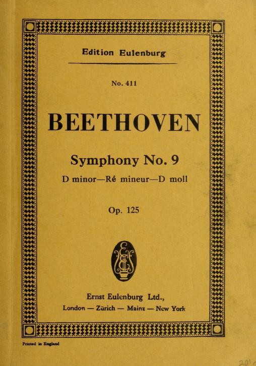 Symphony no. 9, D minor, op. 125 by Ludwig van Beethoven