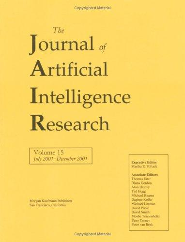 Journal of Artificial Intelligence Research, July 2001-December 2001 by Jair