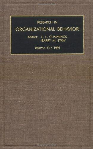 Research in Organizational Behaviour