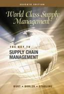 World Class Supply Management by David Burt