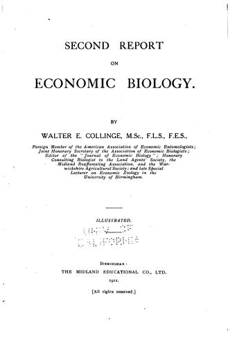 Report on Economic Biology by Walter Edward Collinge