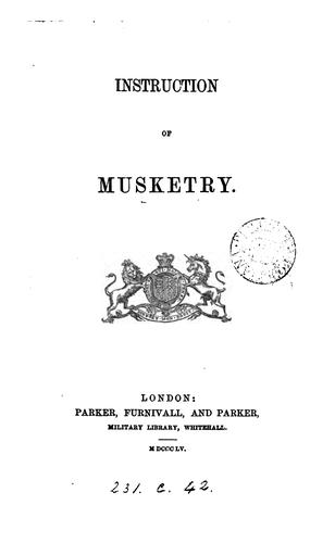 Instruction of musketry by War office