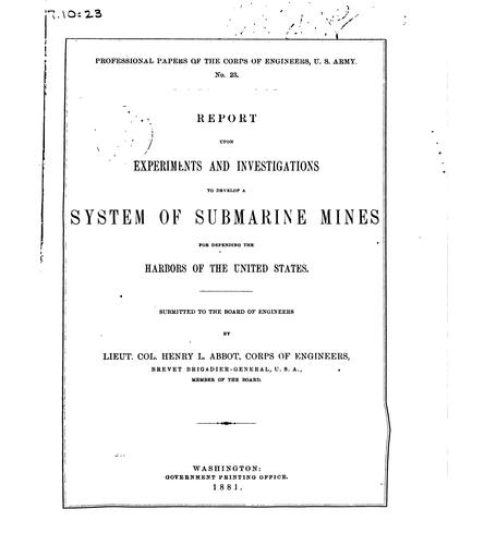 Professional Papers of the Corps of Engineers of the United States Army