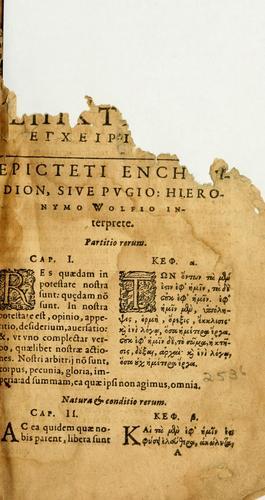 Epicteti stoici philosophi Encheiridion