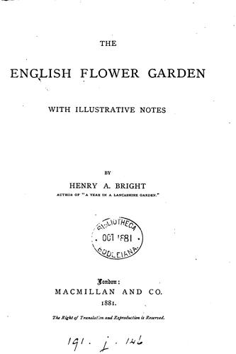 The English flower garden by Henry Arthur Bright