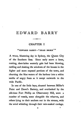Edward Barry: South Sea Pearler by Louis Becke