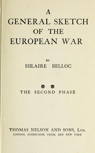 A  general sketch of the European war.