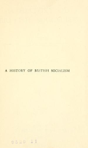 A history of British socialism by Max Beer