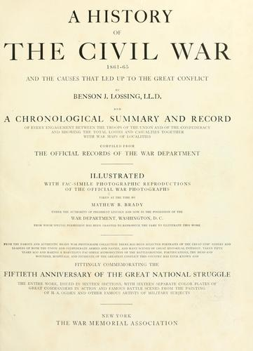 A history of the civil war, 1861-65